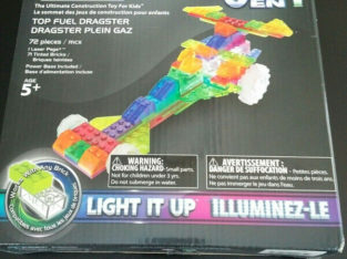 Laser Pegs Light It Up Dragster Car
