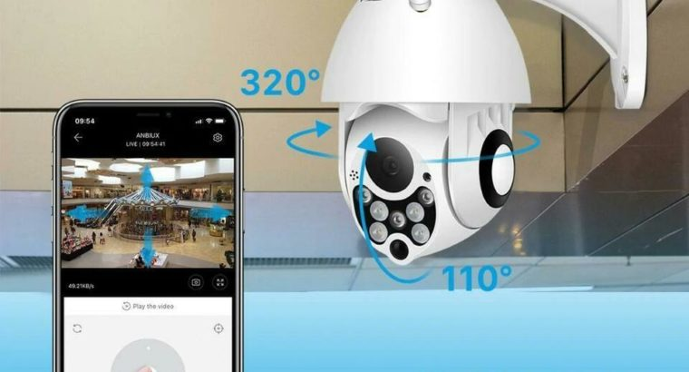 Protect your Property !!! Elite PTZ 360 1080P WIFI AI Human Detection Free Shipping !!!