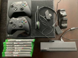 Xbox One Console 500gb 2 controllers, headset, kinect, and More