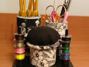 Pincushion/Hooks Organizer Station for Sewing Room