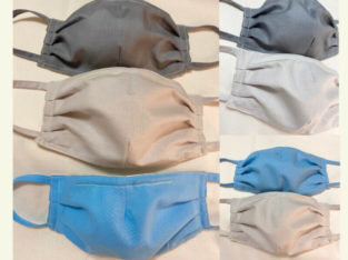 Face Mask Two Layer Quilter's Cotton Filter Pouch