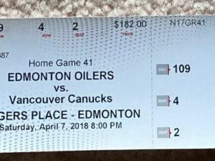 Vancouver Canucks Daniel & Henrick Sedin FINAL GAME Ticket Stub!