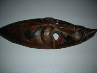 Mask hand made wooden mask old