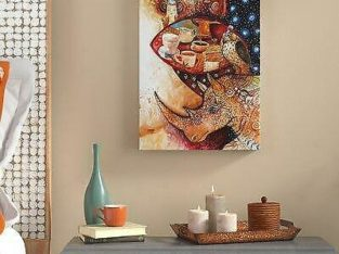 World Menagerie 'Goddess of Coffee' Graphic Art Print on Wrapped Canvas