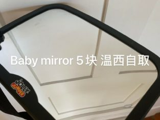 Baby mirror -in car use
