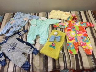 Baby clothes and blanket