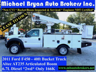 2011 FORD F450 – 40FT ARTICULATED BUCKET TRUCK *166K* DIESEL