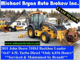 2011 JOHN DEERE 310SJ BACKHOE LOADER *4X4* WITH COMPACTOR/DRIVER
