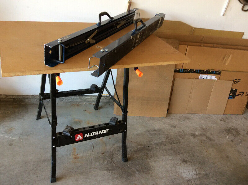 folding work table and 2 sawhorse