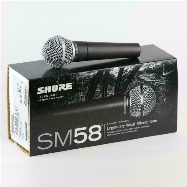 New Shure SM58 Dynamic Vocal Microphone with Mic clip, storage bag and user guide