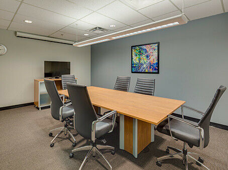 Work your way in a private office for five.