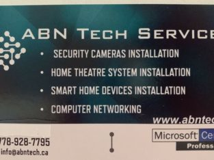 Security Cameras and TV wall mount ,Home theatre,smart home&more