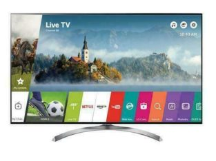 LG 55SJ8500 _307 55 4K UHD HDR LED webOS 3.5 Smart TV,TruMotion 240, Silver, (Store Refurbished) ***READ***