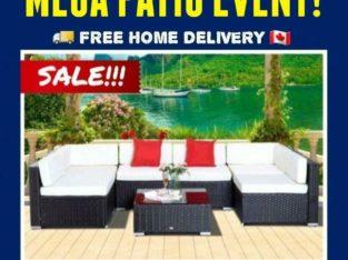 FINAL CLEARANCE • 7pc Wicker Patio & Garden Outdoor Furniture Set