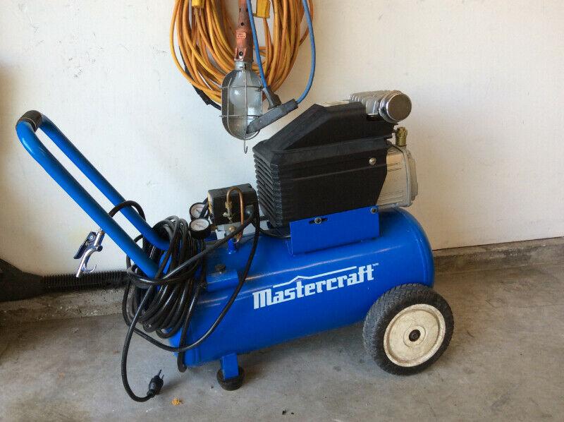 hydraulic floor jack and compressor
