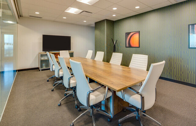 Work your way in a private office for three.
