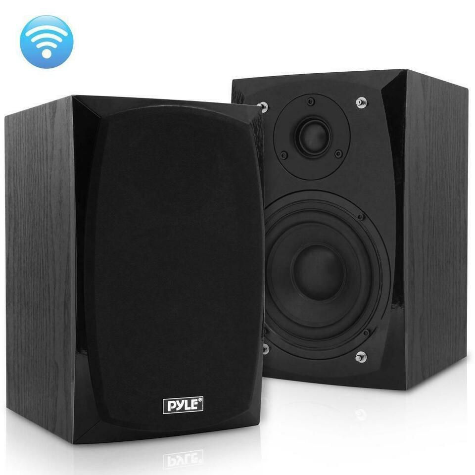Pyle PBKSP22 HiFi Desktop Monitor Speakers Pair – 300 Watt Powered Bluetooth Compatible Active