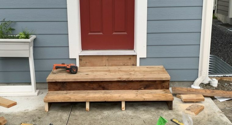 Handy man for hire decks stairs fences Reno's paint siding