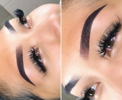 Models for Powder Ombre Brow Tattoo