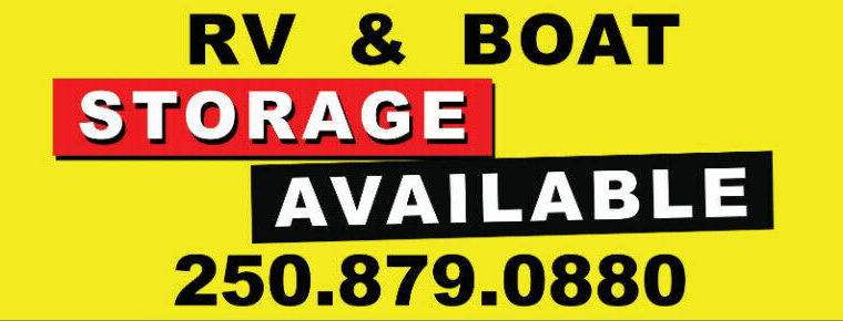 RV and boat storage and more outdoor equipment storage available