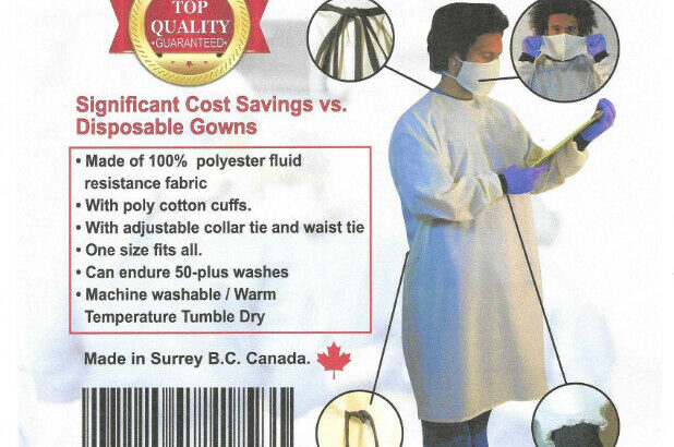 PPE – Re-useable & Washable Safety Masks & Isolation Gowns